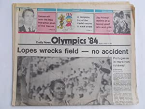 Daily News (Monday, August 13, 1984) Newspaper (Cover Headline: Glorious Finale to Games [1984 Los ...