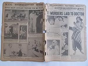 Boston Daily Advertiser - Boston Record (Tuesday, July 25, 1922) Newspaper (Cover Headline: 11 ...