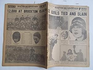 Boston Daily Advertiser - Boston Record (Thursday, November 27, 1924) Newspaper (Cover Headline: 2 ...