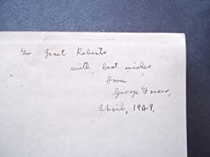 News From South America (Signed By Author): Fraser, G. S. (George)