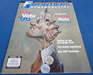 Frontiers (Vol. Volume 15 Number No. 13, November 1, 1996) Gay Newsmagazine News Magazine (Cover ...