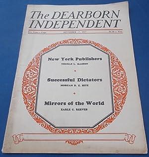 The Dearborn Independent (September 17, 1927): Chronicler: Henry Ford (President)