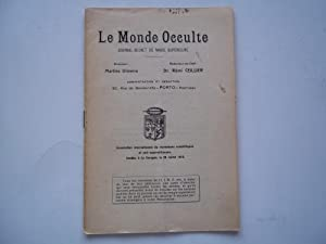 Le Monde Occulte (Avril April 1924): Journal Secret De Magie Superieure: Oliveira, Martins (...