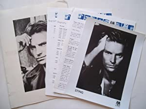 Original Press Kit for Sting (October 1987) with Folder, Photograph, and Publicity Information