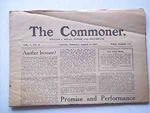 The Commoner (Vol. 9 No. 31, Whole No. 447, August 13, 1909) (Lincoln, Nebraska Newspaper): Bryan, ...