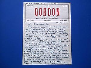 Original Hand-Written Letter (November 14, 1960) Signed: Magician W. F.