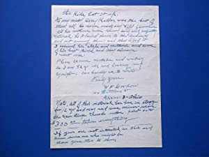 "Original Hand-Written Letter (November 14, 1960) Signed By Magician W. F. Gordon (""The Master ..."