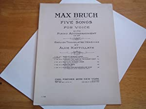 Five Songs for Voice: No. 1 When My Dear One Comes (Mein Liebchen Naht, Blumen Zu Pflucken) With ...