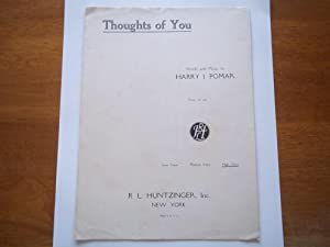 Thoughts of You: High Voice (Sheet Music): Harry J. Pomar (Words and Music By)