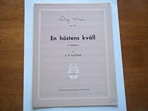 En Hostens Kvall: In Herbstesnacht: An Autumn Eve, Op. 13 b (Sheet Music): Dag Wiren (Musik Av), E....