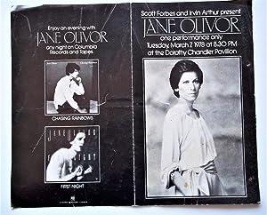 "Jane Olivor Original 1978 Performance Program (""Scott: Jason Darrow (Producer),"