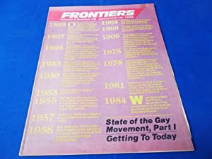 Frontiers (Vol. Volume 3 Number No. 35, January 9-16, 1985) Gay Newsmagazine News Magazine