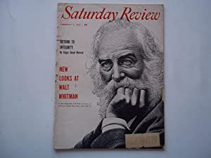 Saturday Review (February 5, 1955) Magazine (Featuring Walt Whitman on the Cover): Saturday Review ...