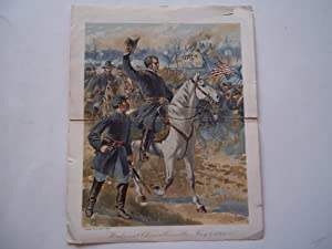 Original Color Civil War Art Print: Hooker at Chancellorsville, May 3, 1863 (1897): H. A. Ogden (...