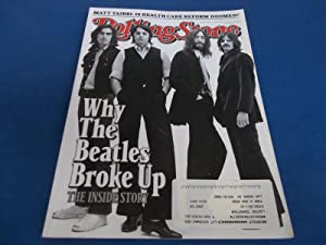 Rolling Stone (Issue 1086, September 3, 2009) Magazine (Why The Beatles Broke Up Cover Inside Story)