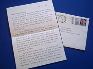 Original Typed And Signed Letter With Envelope (July 29, 1988) From Robert C. Schneider of Project ...