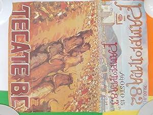 Original Poster By Reynaldo Torres for Pamplonada (Running of the Bulls) in Tecate B.C. (Baja, ...