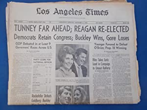 Los Angeles Times Newspaper (Complete Parts One Through Four: Wednesday Morning, November 4, 1970) ...
