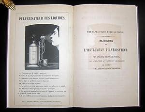 Thérapeutique respiratoire. Instruction sur l'instrument pulvérisateur des ...