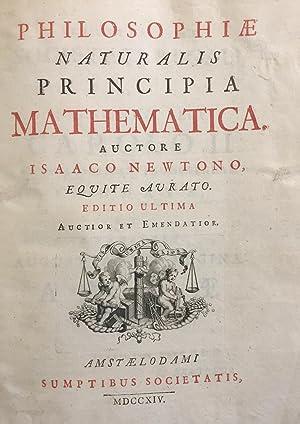 Philosophiae naturalis principia mathematica: NEWTON, Isaac