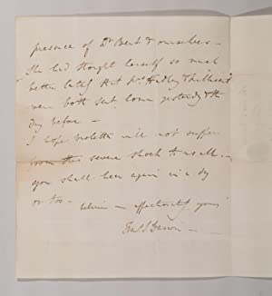 ALS [Letter by Francis Darwin, announcing the death of his mother]