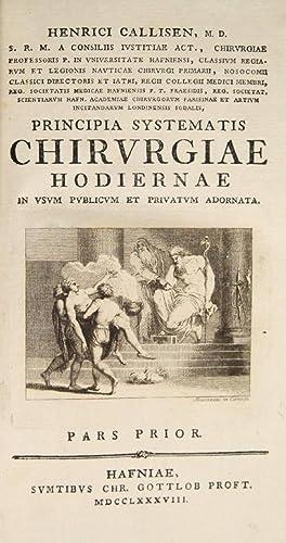 Principia systematis chirurgiae hodiernae: CALLISEN, Heinrich