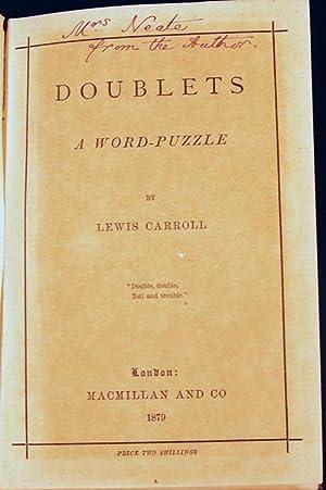 Doublets: a word-puzzle: CARROLL, Lewis [Dodgson,