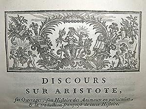 Histoire des animaux d'Aristote: ARISTOTLE]. CAMUS, Armand-Gaston