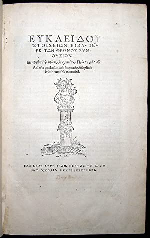Greek:] Elementa geometriae: EUCLID