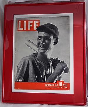 LIFE Magazine, September 1, 1941: Ted Williams, No. 1 Batter (Professionally Framed): LIFE Magazine...