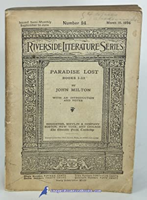 Paradise Lost: Books I-III (No. 94, The Riverside Literature Series)