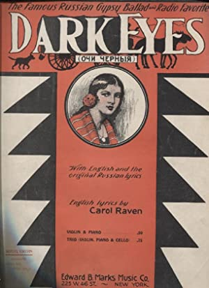 Dark Eyes: Raven, Carol, English Lyrics by; Song Arranged by A. Fassio; Arranged For Piano Solo by ...
