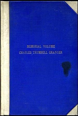 Memorial Volume Charles Trumbull Granger: past Grand