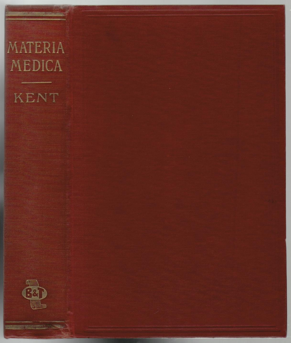 KENT S COMPARATIVE REPERTORY OF THE HOMEOPATHIC MATERIA MEDICA