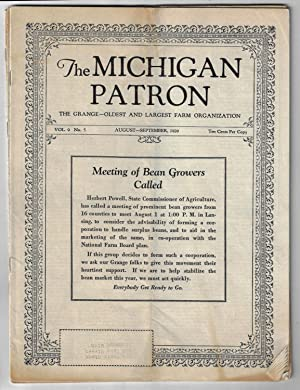 The Michigan Patron, The Grange -- Oldest and Largest Farm Organization. [Four Issues, 1928-1929]