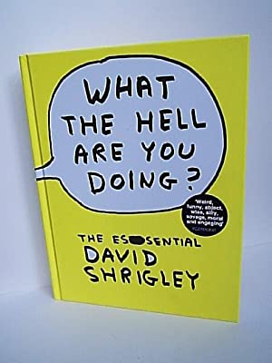 What the Hell are You Doing?: Shrigley, David