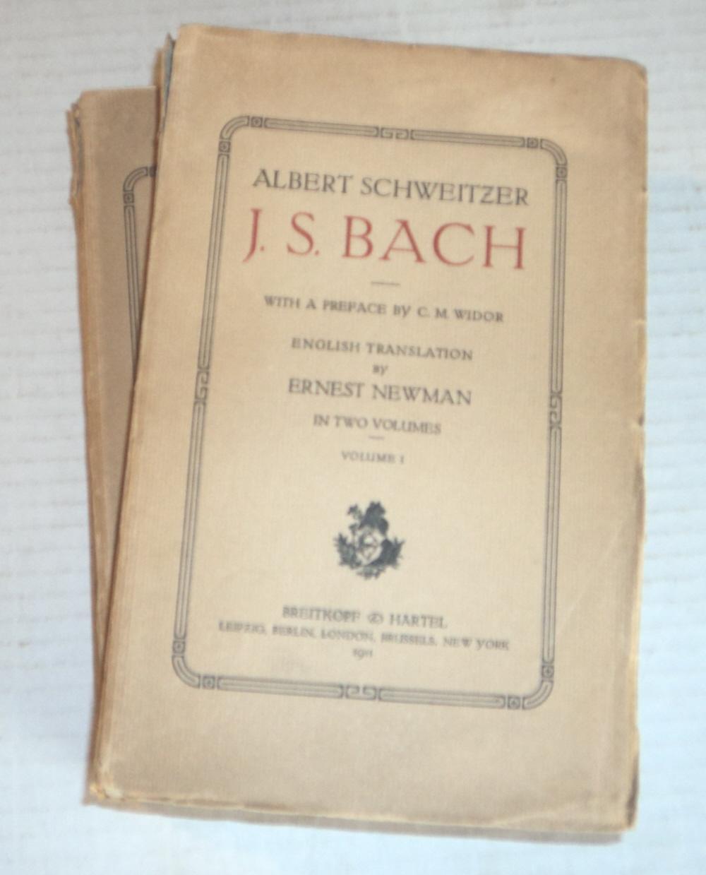 J. S. BACH. 2 volumes. (Bach, J. S.). Schweitzer, Albert.