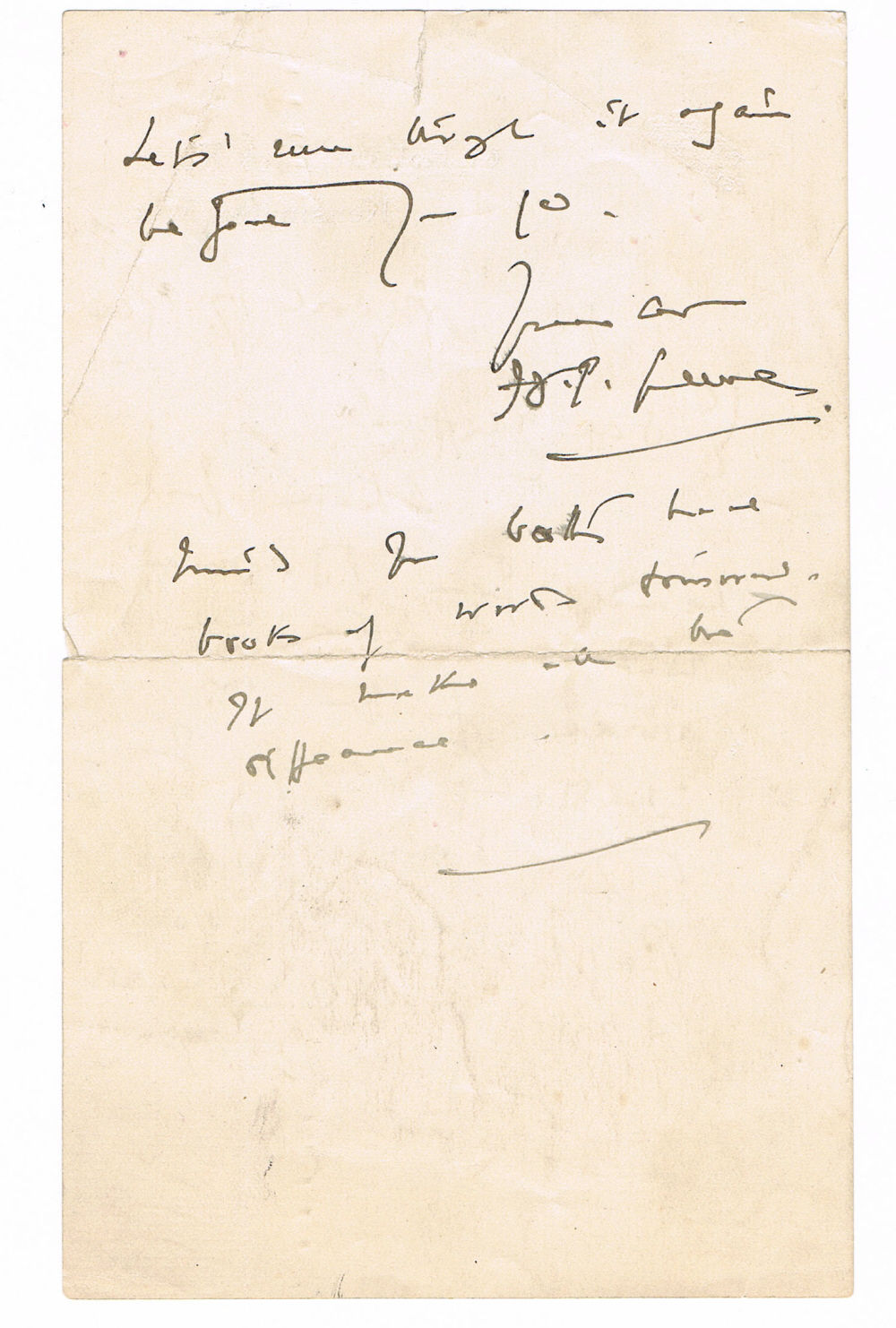 FOUR AUTOGRAPH LETTERS SIGNED BY THE FAMOUS