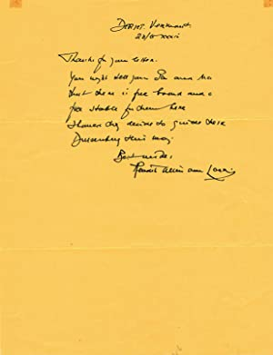 AUTOGRAPH LETTER SIGNED by Dutch-born American writer, journalist and illustrator HENDRIK WILLEM ...