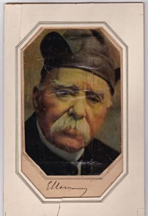 A BRIGHT COLOR PORTRAIT OF THE FRENCH: Clemenceau, Georges (1841-1929).