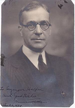 ORIGINAL PHOTOGRAPH INSCRIBED AND SIGNED BY U.S.: Baker, Newton D.