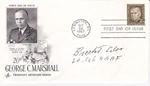 """FIRST DAY COVER SIGNED BY WORLD WAR: Liles, Brooks """"Pappy"""""""