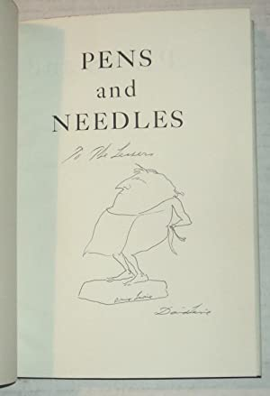 PENS AND NEEDLES: Literary Caricatures by David: Levine, David.