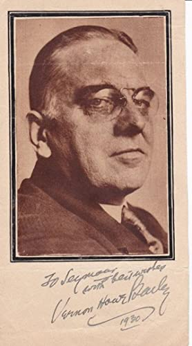 MAGAZINE PORTRAIT INSCRIBED AND SIGNED BY AMERICAN: Bailey, Vernon Howe.