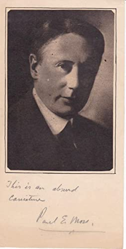 MAGAZINE PORTRAIT SIGNED BY LITERARY CRITIC AND: More, Paul Elmer.