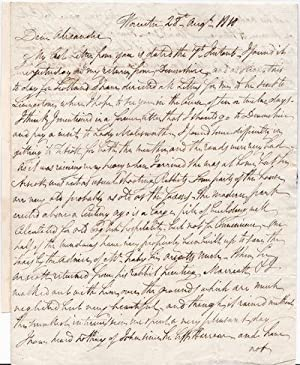 AUTOGRAPH LETTER TO HIS BROTHER ALEXANDER SIGNED: Munro, Sir Thomas.