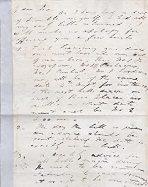 AUTOGRAPH LETTER TO SIR HENRY RAWLINSON SIGNED: Lawrence, Sir Henry