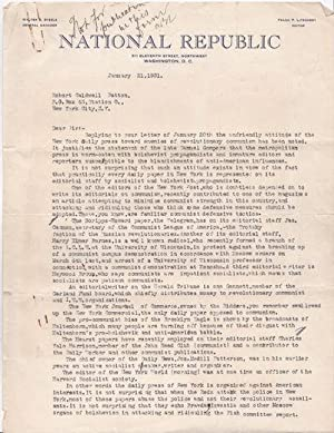 TYPED LETTER SIGNED with an AUTOGRAPH NOTE.: Lockwood, George Browning
