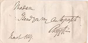 AUTOGRAPH NOTE SIGNED BY SCOTTISH LIBERAL POLITICIAN: Campbell, George, 8th