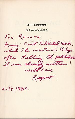 D.H. LAWRENCE: AN UNPROFESSIONAL STUDY.: Lawrence, D.H.). Nin,